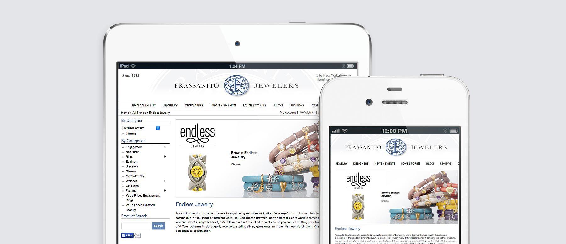 Frassanito Jewelers Responsive Design