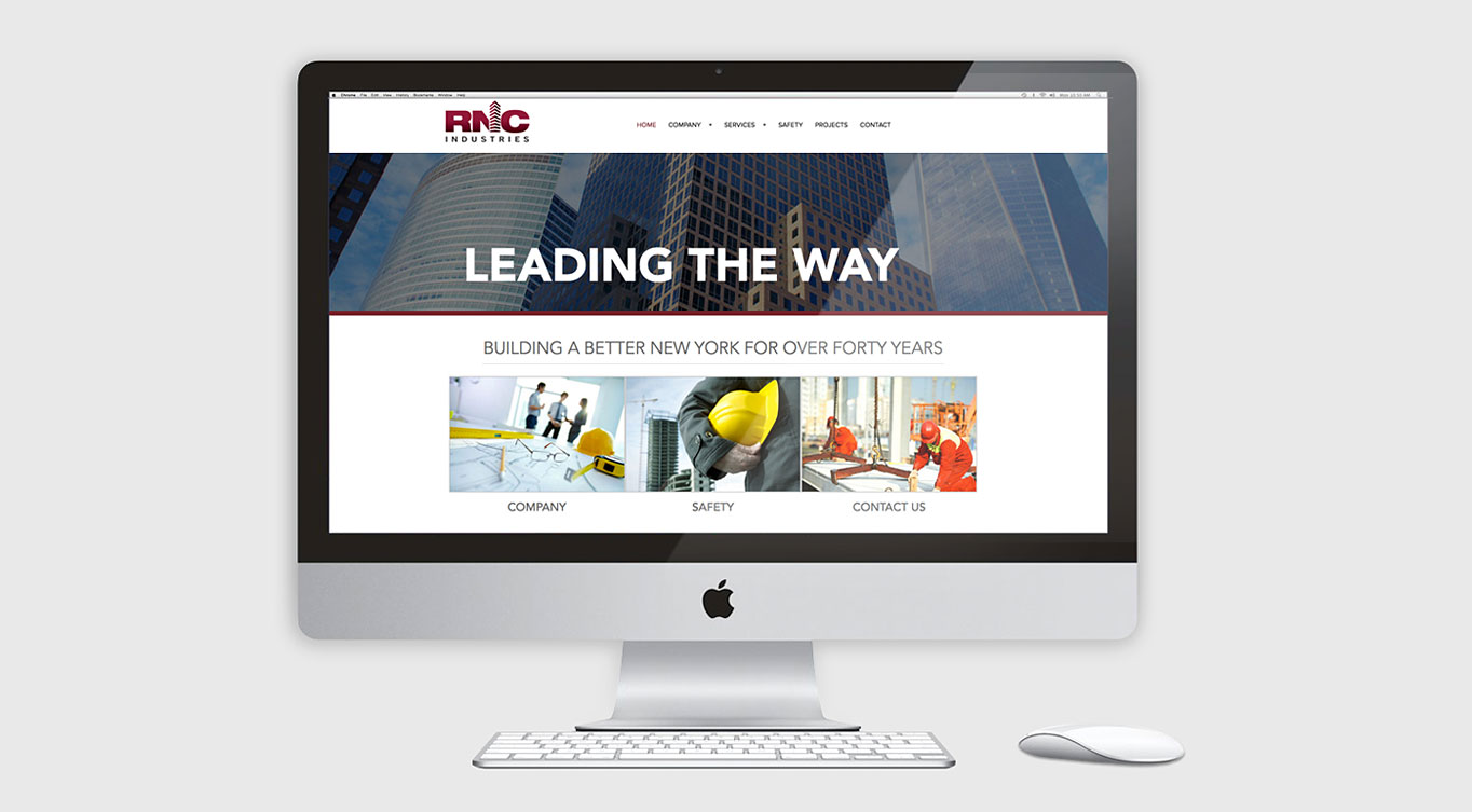 Construction Responsive Website Design