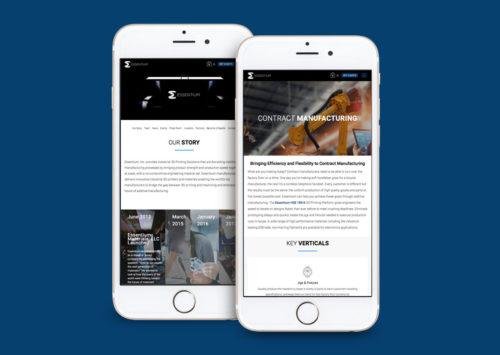 Technology Mobile Website Design